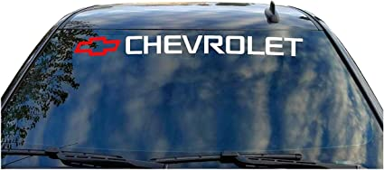 "CHEVROLET /""FUNNY CHEVY WINDSHIELD BANNER TRUCK 4X4 STICKER DECAL fits all models"