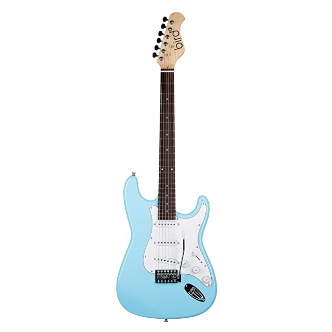 Bird STC1 - Guitarra eléctrica, color blanco: Amazon.es: Instrumentos musicales
