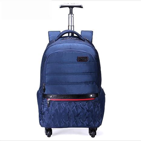 HAIYUANNAN Impermeable Multifunción Ligero Mochilas Ordenador portátil Backpacks 4 Ruedas giran 360 ° para Negocio/