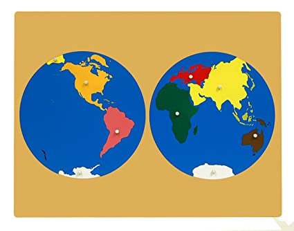 Amazon.com: Montessori Puzzle Map of World Parts: Toys & Games