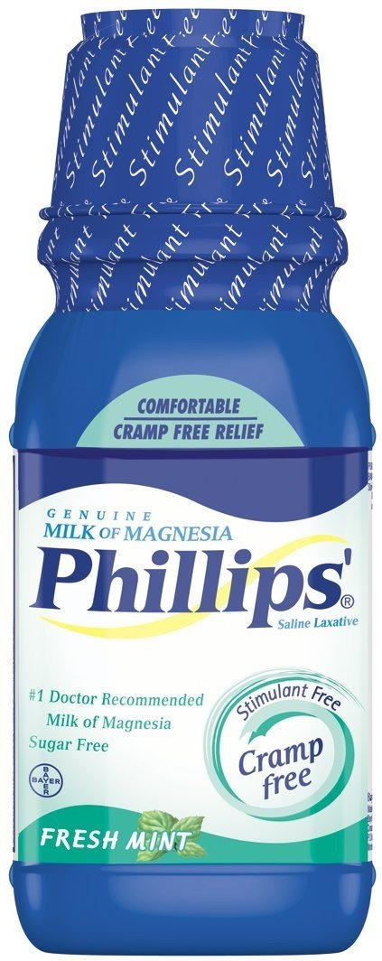 Amazon.com: Phillips Milk of Magnesia, Fresh Mint 12 oz (Pack of 4): Health & Personal Care