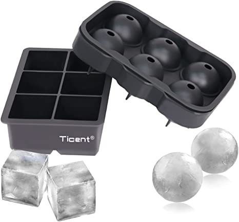 Silicone Whiskey Creative Ice Cube Ball Maker Mold Sphere Party Bar Tray Maker