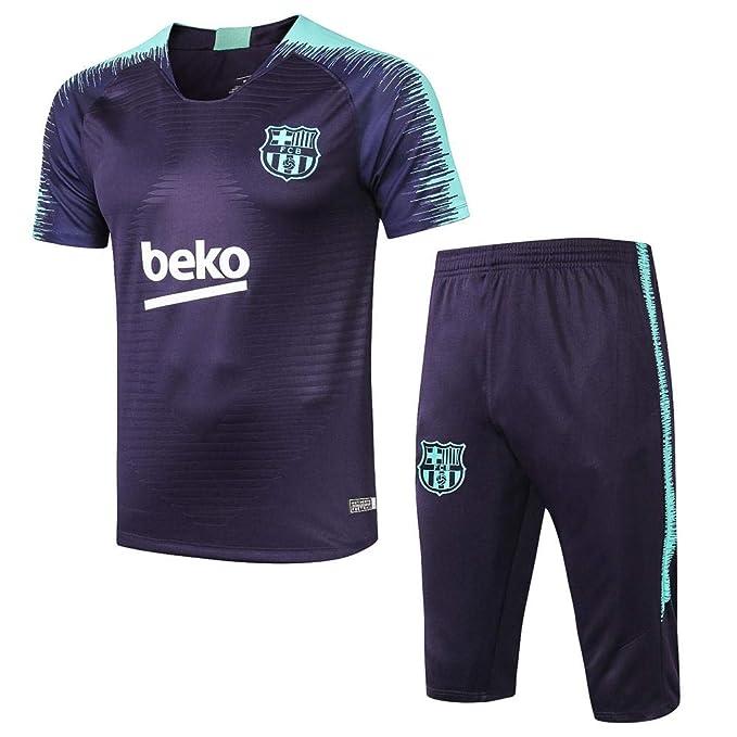 18-19 Barcelona Jerseys Fútbol Pantalones Cortos de Manga ...
