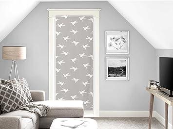 Soleil D Ocre Voilage Porte Fenêtre 70x200 Colibri Gris Polyester 70x200 Cm