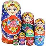 NO: 1 en bois russe s'imbriquent poupées Matryoshka cadeau fait main coloré 7pcs