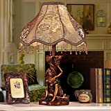 HH European Style Table Lamp Lace Retro Warm Table Lamp