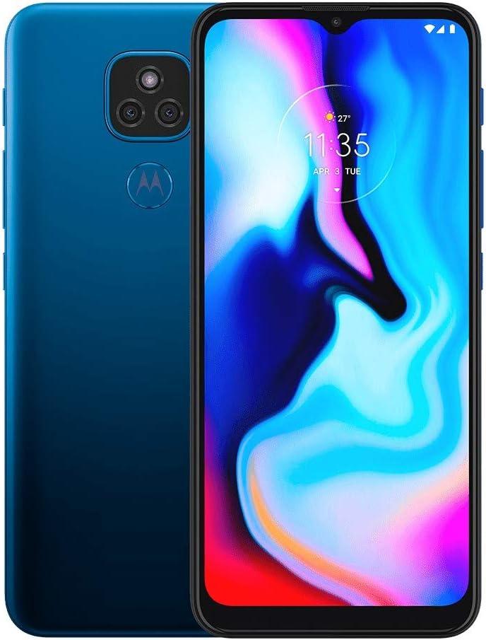 Motorola Moto E7 Plus XT2081-1 64GB Dual Sim GSM Unlocked Android Smartphone - Misty Blue