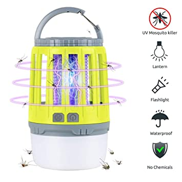 Outdoor Mosquito Repeller Killer Lamp Camping Emergency LED Light USB Rechargeab