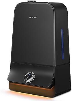 Miroco 26dB Ultra Quiet Adjustable Mist Ultrasonic Humidifier