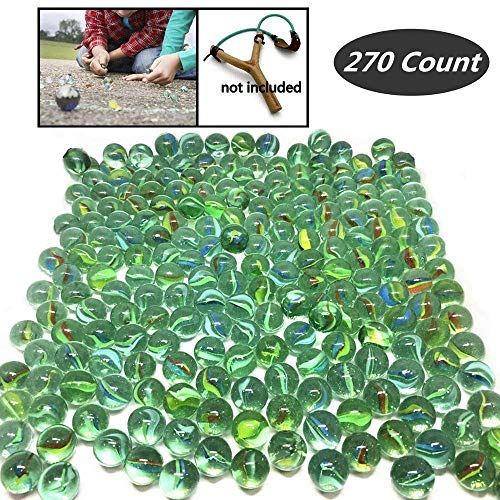 TSY TOOL 270 Count of Cats Eyes Glass Marble Cat#039s Eyes Marbles 5/8quot in Bulk Shooters Sling Shot Ammo Assorted Colors