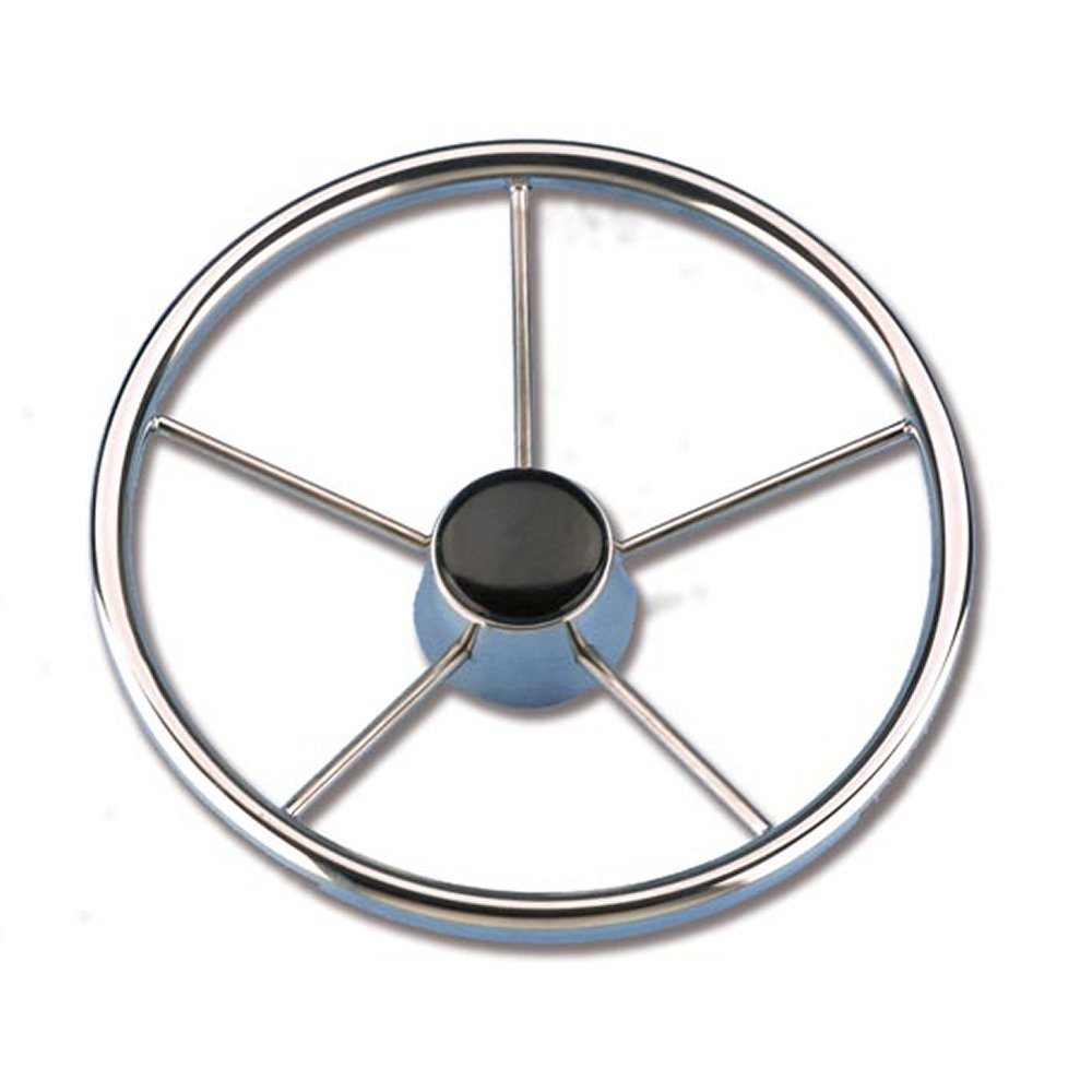 Steering Wheel, Stainless Steel AISI 316/457 mm 5-Spoke Tube Diameter 22 mm PARACHINI shop