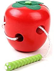 Dosige Children's Educational Toys Apple Threading Wooden Toys Baby Toy Gift for Birthday Christmas Festival