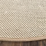 Safavieh Natural Fiber Collection NF143B Marble and Linen Sisal Round Area Rug