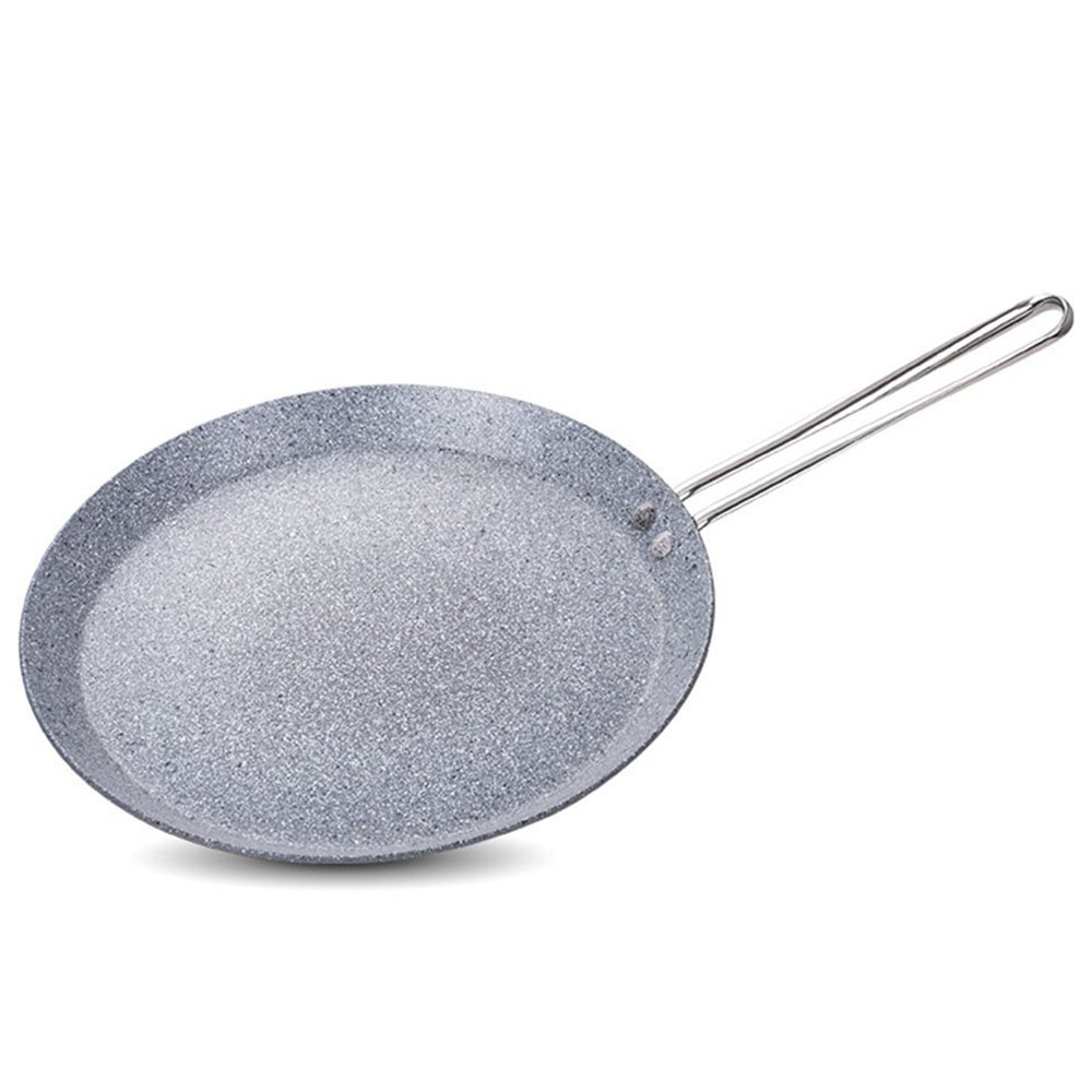 MyLifeUNIT Aluminum Crepe Pan, Nonstick Round Griddle for Electric, IH or Gas Stove Top (10 Inch)