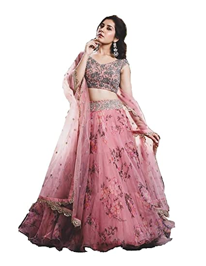 Nancy Fab Women S Net Lehenga Choli Pink Free Amazon In Clothing Accessories