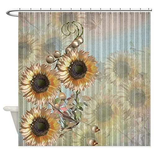 CafePress Country Sunflowers Shower Curtain Decorative Fabric Shower Curtain (69''x70'') by CafePress (Image #1)