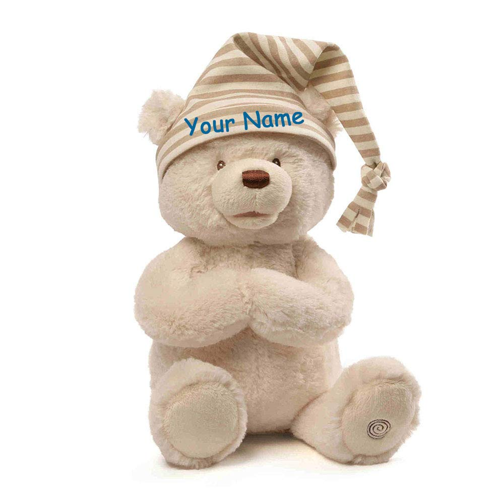 Personalized Goodnight Prayer Bear Animated Talking Plush Stuffed Animal Toy for Baby Boy or Baby Girl with Custom Name - 15 Inches by PersonalizedGUND