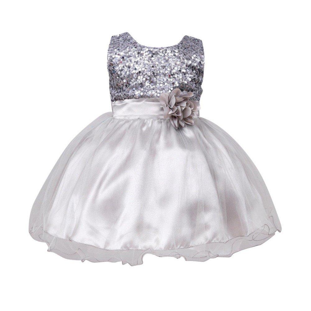 BOBORA Bambine e Ragazze Senza Maniche Principessa Abiti da Fiore Costumi 0-24 Mesi