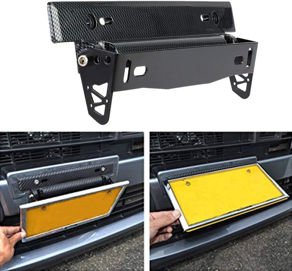 1x Adjustable Racing Style Relocate Bracket Car Autos License Plate Frame Holder