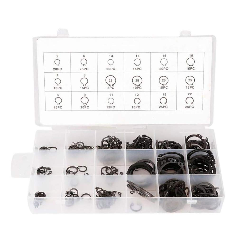 Vansee❤❤300pcs Stainless Steel Circlips E Type Clip Assorted Kit Retaining Ring
