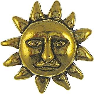 product image for Jim Clift Design Sun Face Gold Lapel Pin