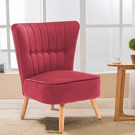 Warmiehomy Modern Velvet Occasional Chair Buttoned Chair