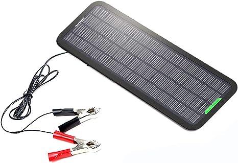 QWERDF 5W 18V Solar Cargador De Goteo, Panel De Batería ...