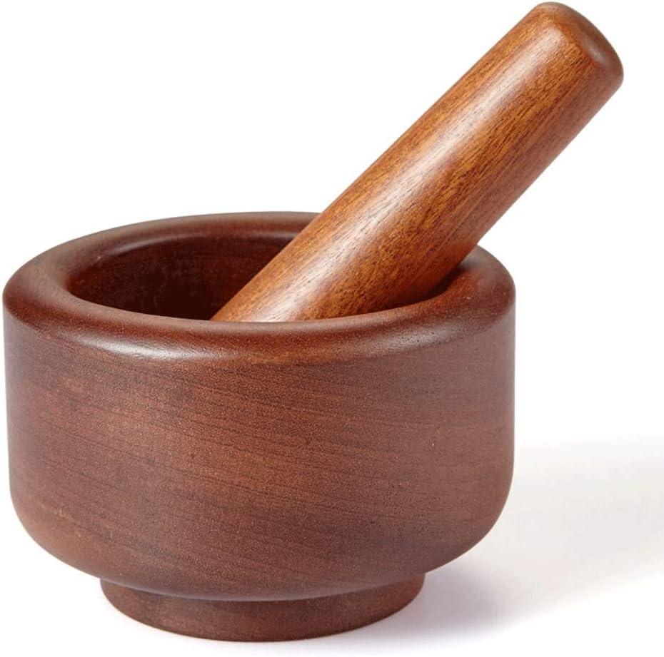 Food Processor/Food Grinder – Mortar And Pestle Spice Grinder Pill Crusher Garlic Crusher Home Kitchen Manual Wood Pressing Garlic Pepper Crusher Ebony Wood Whole Wood