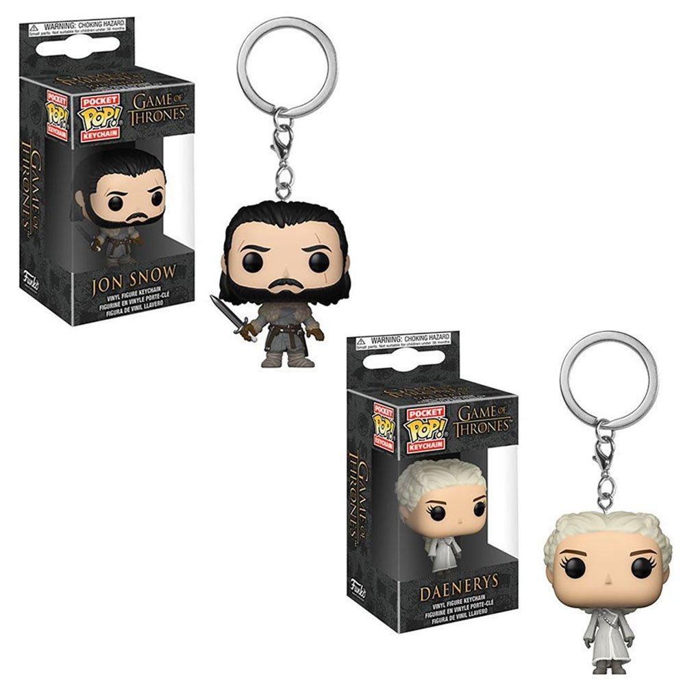 Funko Pocket POP! Keychain Game of Thrones: Jon Snow and Daenerys Targaryen Toy Action Figure - 2 POP BUNDLE