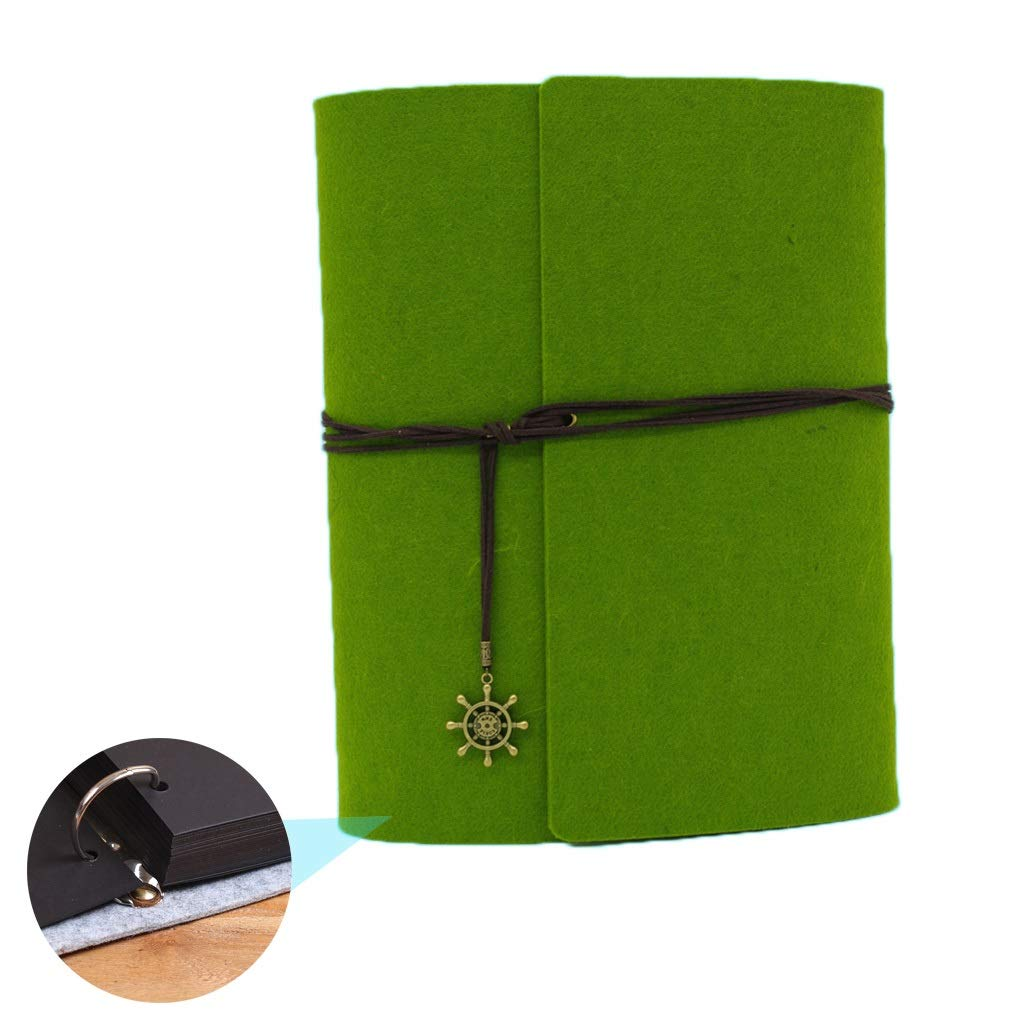 Album Book Photo Organizer Wedding Album Home Album Paste Classmates Large Capacity Photo Company Best Gift (Color : Green, Size : 31234cm) by Photo Albums