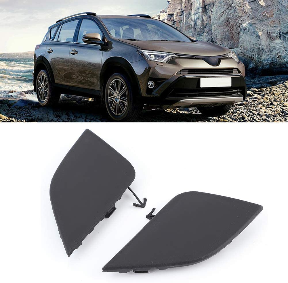 East buy Tow Eye Cover 2pcs Tow Hook Eye Cover Set 532850R080 532860R080 Fit for Toyota RAV4