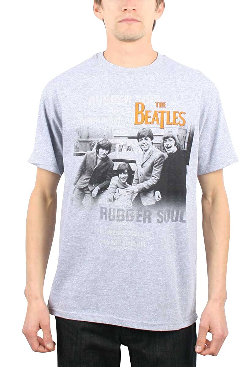 bdd47b5eee87 Amazon.com: The Beatles - Mens Rubber Soul Mens T T-Shirt In Heather,  Small, Heather: Clothing