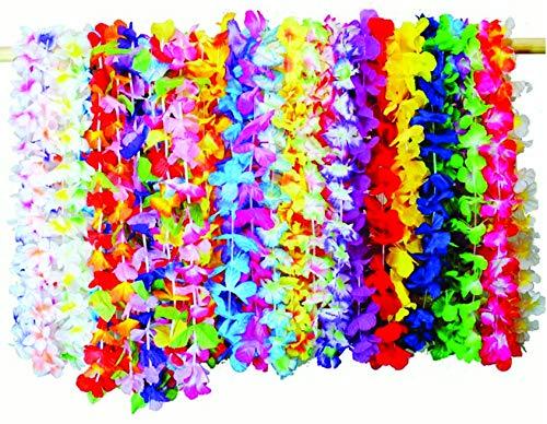Pluto Party 36 Pieces (3 Dozen) Luau Flower Lei Tropical Hawaiian Party Favors Decoration, Moana Birthday Party Supplies