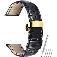 Cinturino orologio 16mm 18mm 19mm 20mm 21mm 22mm cinturino in vera pelle di vitello sostituzione cinturino con bottone fibbia a bottone a farfalla CHIMAERA