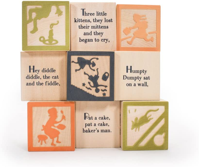 Uncle Goose Nursery Rhyme Blocks - Made in The USA