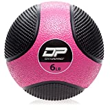 DYNAPRO Medicine Ball | Exercise Ball, Durable Rubber, Consistent Weight Distribution, Comfort Textured Grip for Strength Training (Pink- 6LB)