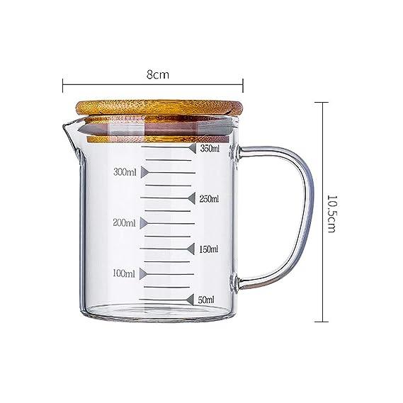 Compra Aishanghuayi Vaso de medición de Vidrio doméstico Ml ...