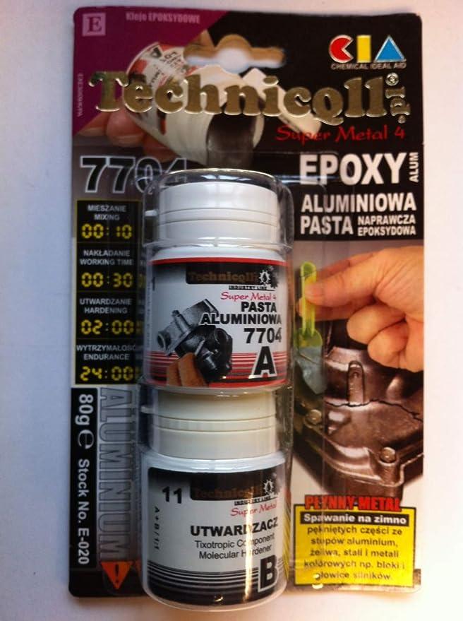 1 X Epoxy Aluminium Paste For Fixing Cracks In Metal Parts Engine Blocks Heads Broken Threads Etc 100g New Baumarkt