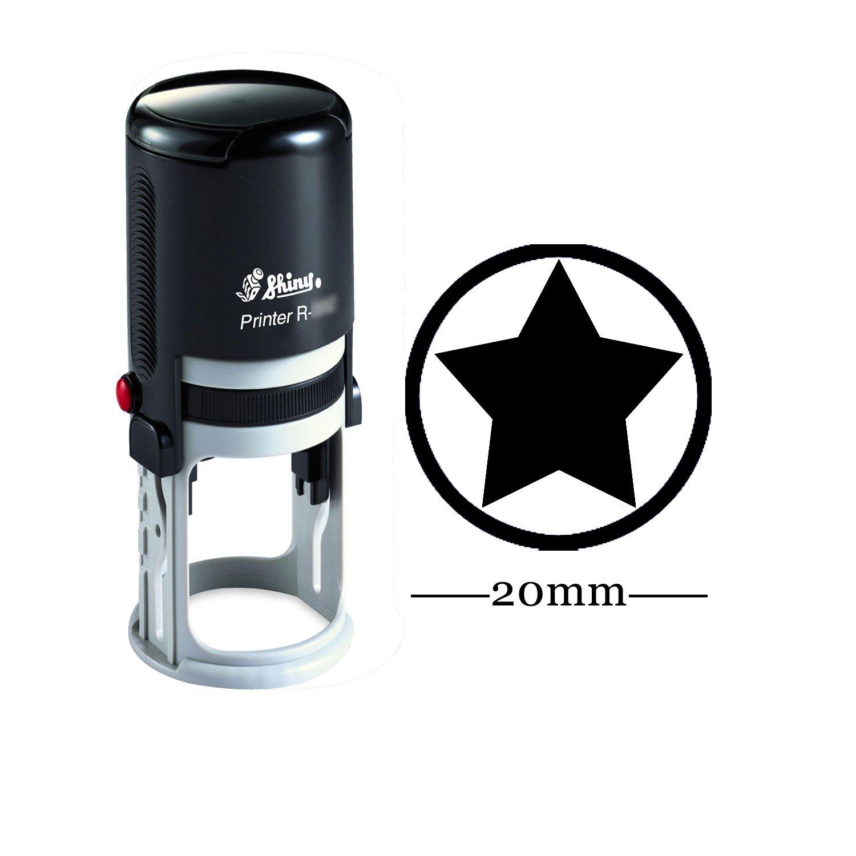 STAR rotonda auto inchiostrazione Timbro personalizzato lucido 20 millimetri Mini Francobolli personalizzati Francobolli Insegnanti Printtoo