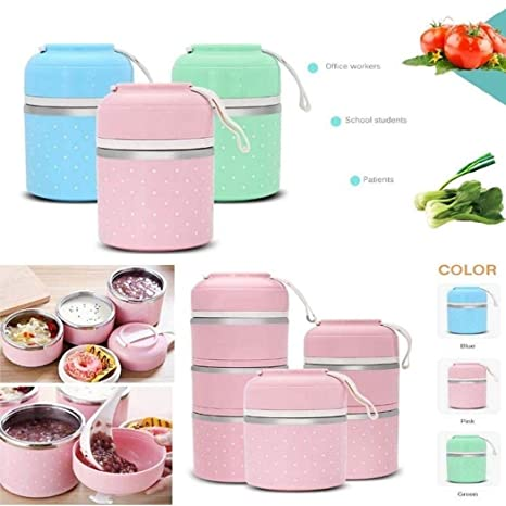 eae2c350e0cd Amazon.com: Youandmes Stainless Steel Thermal Lunch Box - School ...