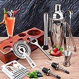 Cocktail Shaker Set Bartender Kit with Stand 24 OZ