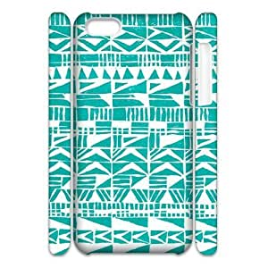 linJUN FENGGreen Tribal Pattern 3D-Printed ZLB557037 DIY 3D Phone Case for ipod touch 5