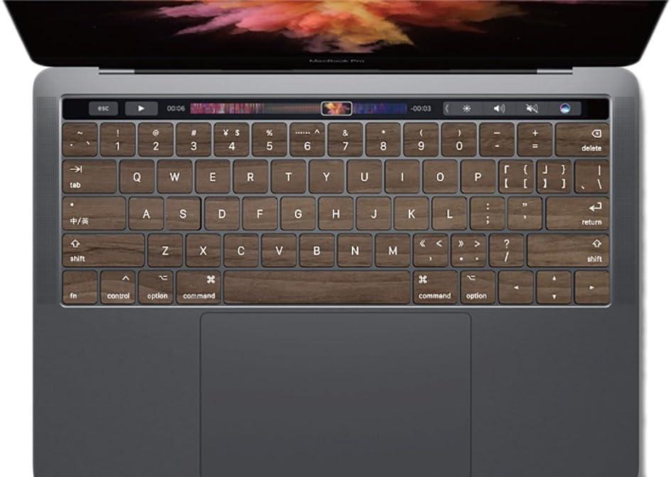 100% Walnut Wood Keyboard for Mac Macbook Wireless Blueteeth Keyboard Sticker