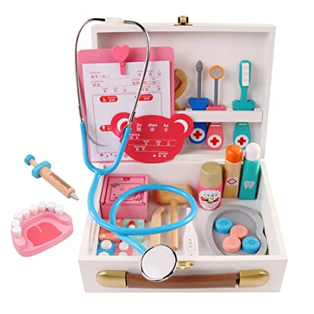 Docooler Wooden Doctor Kit Toy Portable Realista Juego de ...