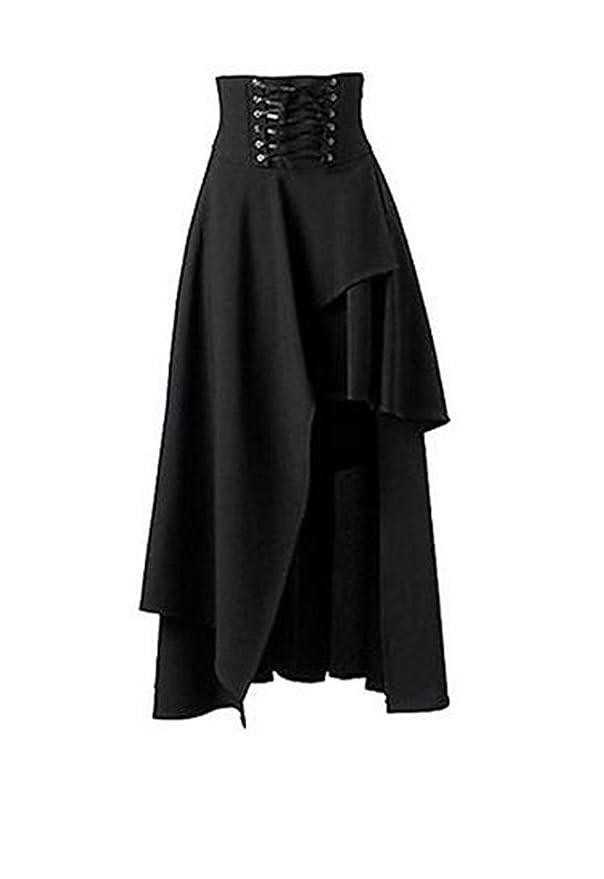 3ec003049f Falda negra estilo gótico