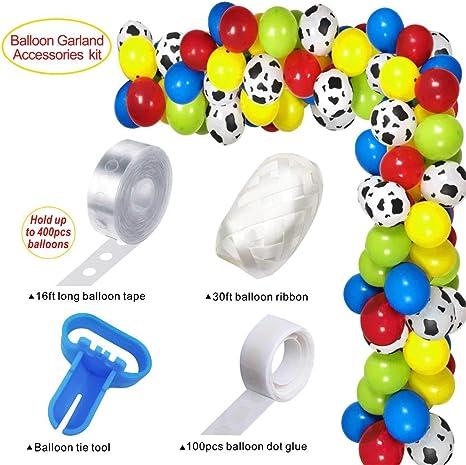 Ballons Kuhflecken-Motiv Latex 5 St/ück