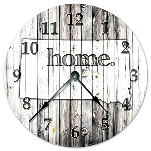 SOUTH DAKOTA STATE HOME CLOCK Huge 15.5