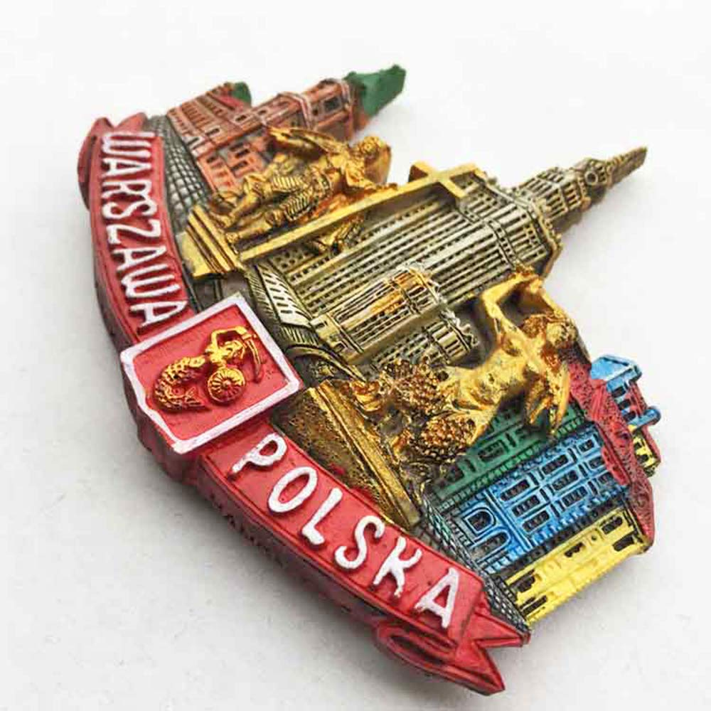 dise/ño de Polonia de Varsovia decoraci/ón para el hogar y la cocina Im/án para nevera