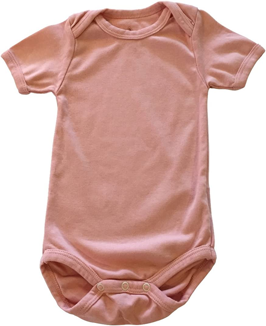 Baby Short-Sleeve Organic Egyptian Cotton Bodysuit