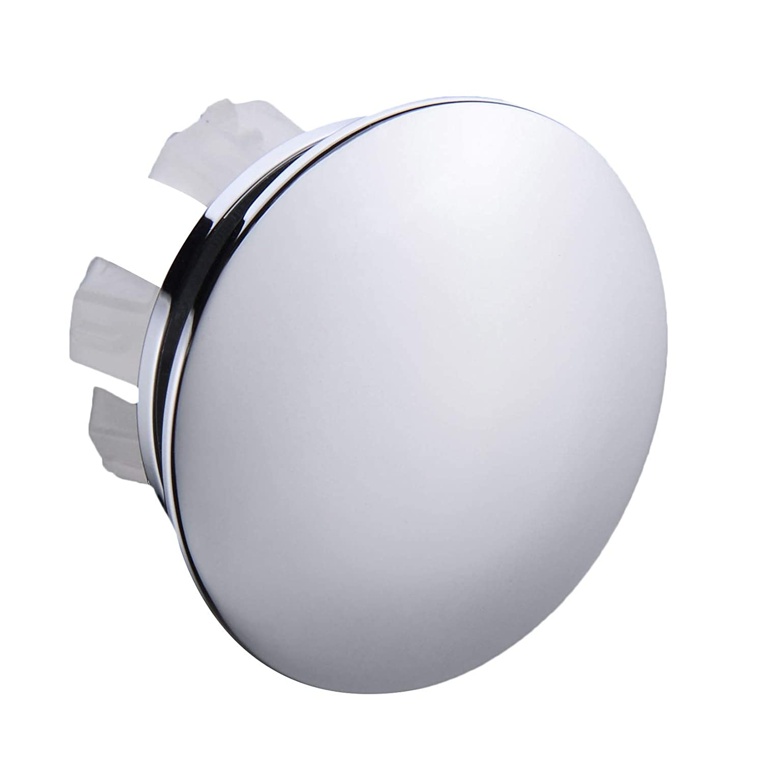 Orhemus Solid Brass Sink Overflow Cap Round Hole Cover for Bathroom Basin, Polished Chrome Finished